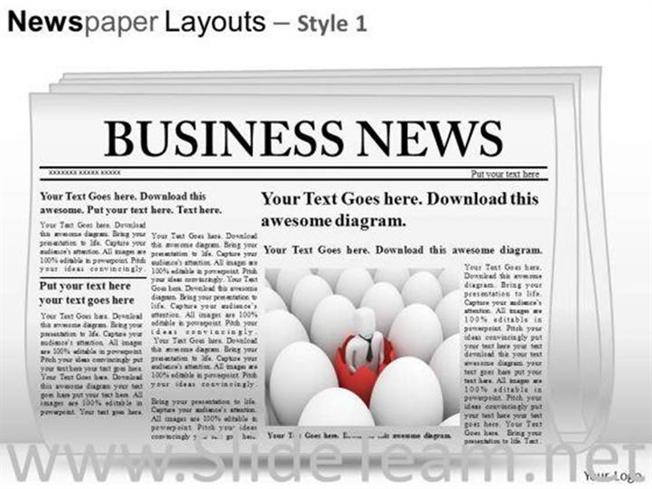editable newspaper slide layout powerpoint themes powerpoint diagram. Black Bedroom Furniture Sets. Home Design Ideas