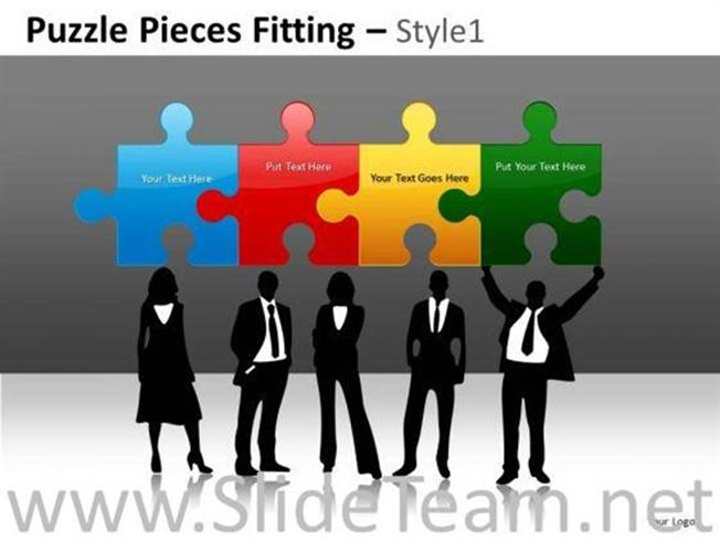 Human Resource Development Puzzle Powerpoint Slides