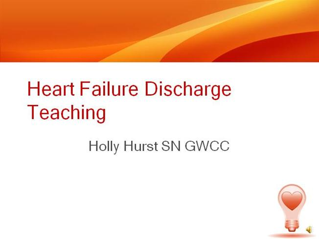 an example of a discharge teaching This review focuses on how discharge planning information can discharge plan on chf patients nursing essay print this is not an example of the work.