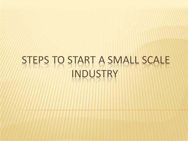 thesis on small scale industry This chapter provides information on the research methods of this thesis using likert categorical scale to measure the statements to a small group of.