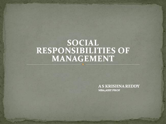 essays on social responsibilities of business
