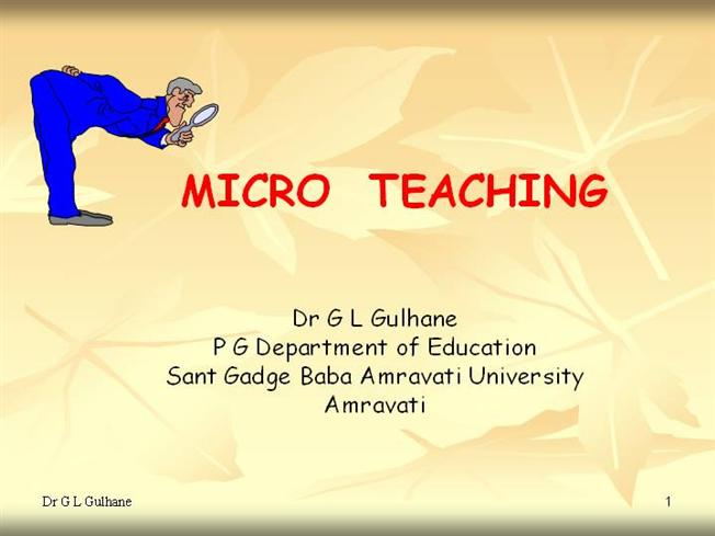 Microteaching - PowerPoint PPT Presentation