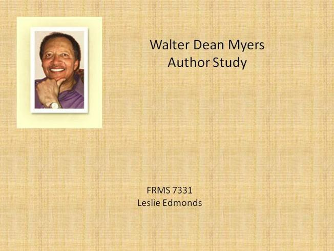 walter dean myers amazing author Visit amazoncom's walter dean myers page and shop for all walter dean myers books check out pictures, bibliography, and biography of walter dean myers.