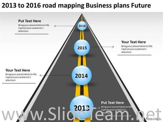 Timeline road mapping ppt slides powerpoint diagram for Road map powerpoint template free