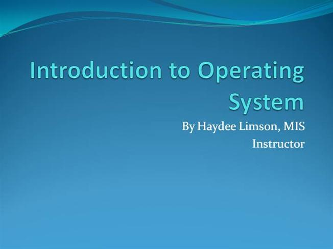 Paper presentation on operating systems