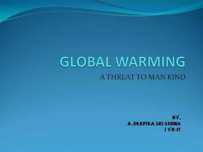 is global warming a threat or