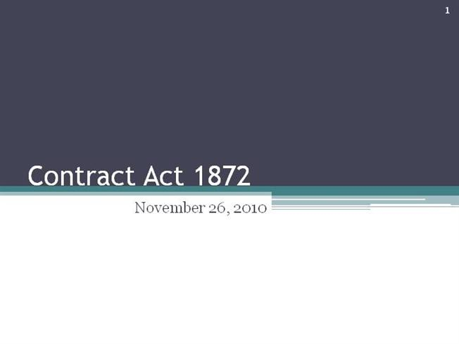 contract act of pakistan