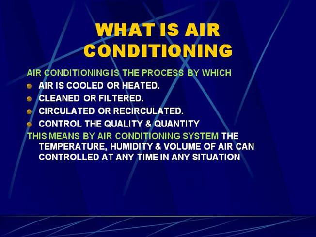 Basics For Air Conditioning Authorstream