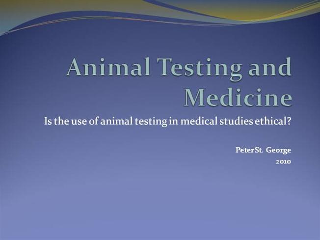 ethics of animal testing for medical Animal experiments are widely used to develop new medicines and to test the safety of other products many of these experiments cause pain to the animals involved or reduce their quality of life in other ways if it is morally wrong to cause animals to suffer then experimenting on animals produces serious moral problems.