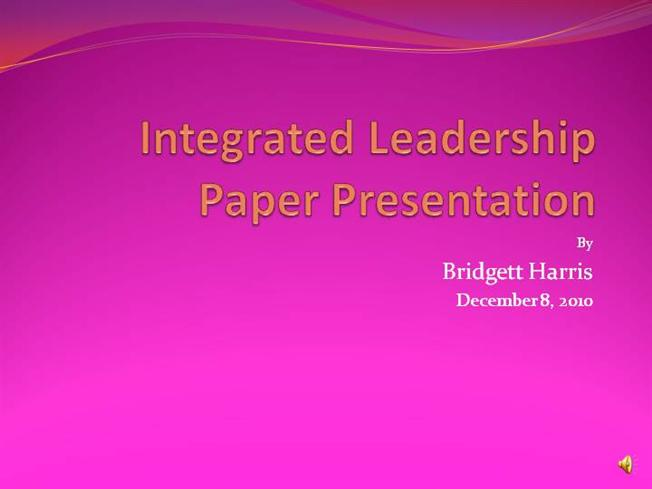 leadership paper and presentation Make sure that you've prepared properly for an important presentation with this  for brandeis university - titled the voice of your leadership you can access it.