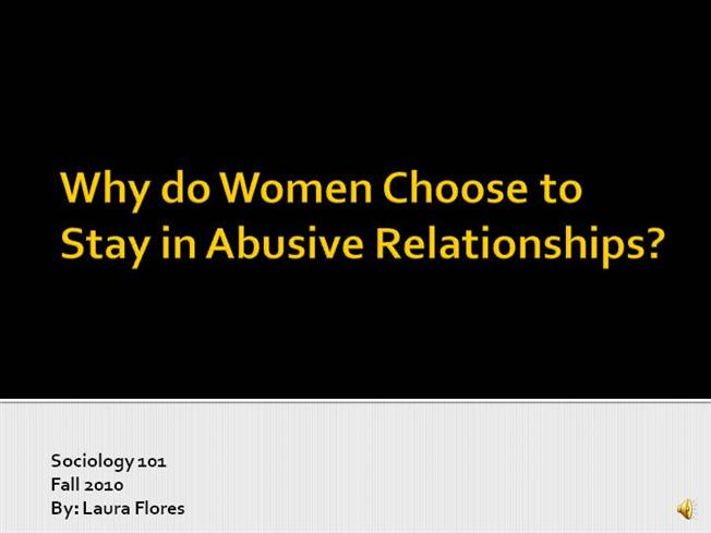 abusive relationships why stay in the