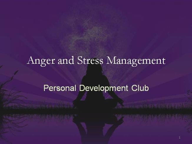 anger and stress management pdf