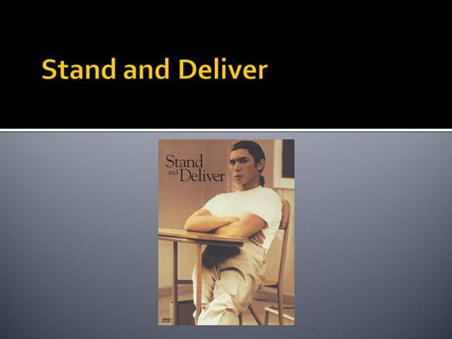 reflection on stand and deliver Jaime escalante, the teacher who inspired the hit movie stand and deliver passed away at his home in nev betty nguyen reports.