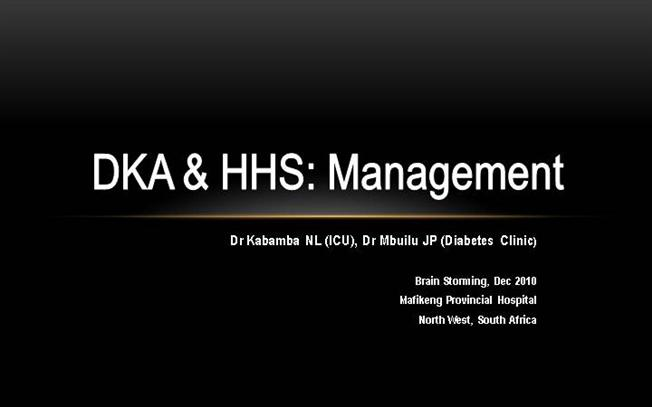 Diabetes management in the hospital ppt template