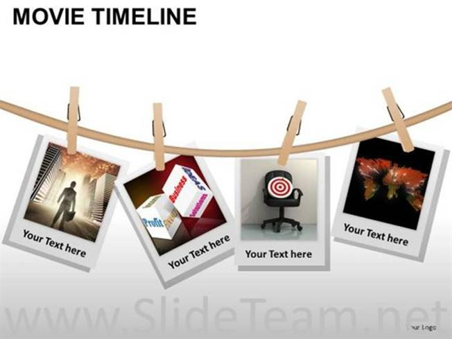 movie timeline diagram for business targetspowerpoint diagram