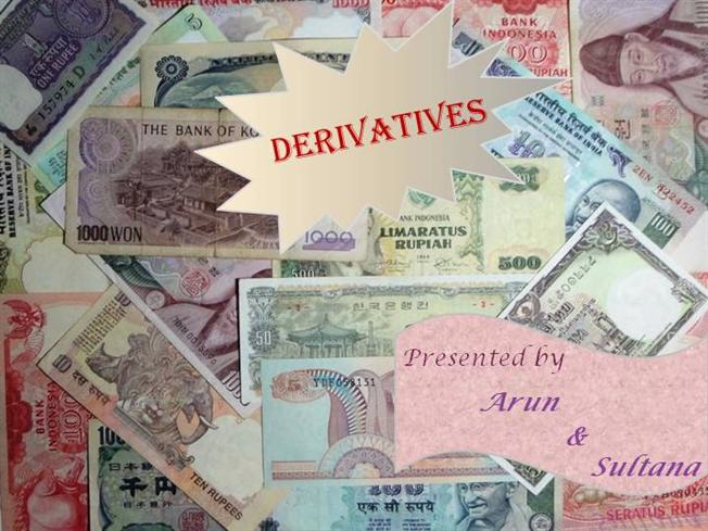 Derivatives trading in india ppt