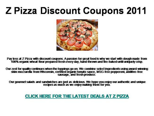 A ma pizza talence coupons
