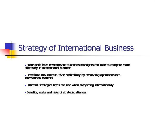 the strategy of international business 31012018 different types of business strategies small business - chroncom,  the difference between corporate strategy & business strategy also viewed.