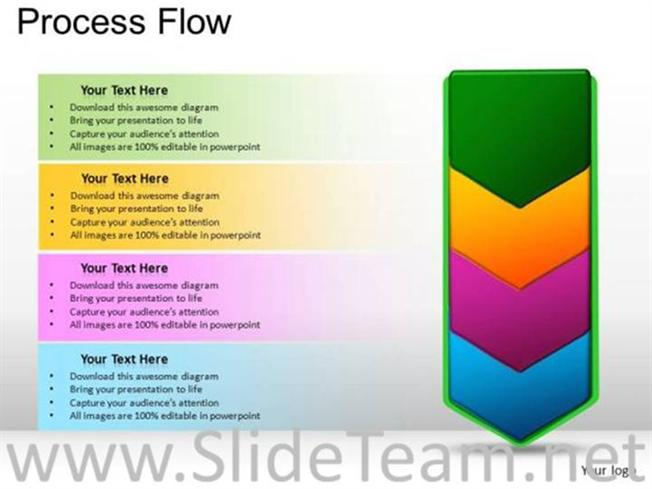 Diagram process flow diagram ppt template : Marketing Process Flow Chart Diagram-PowerPoint Diagram