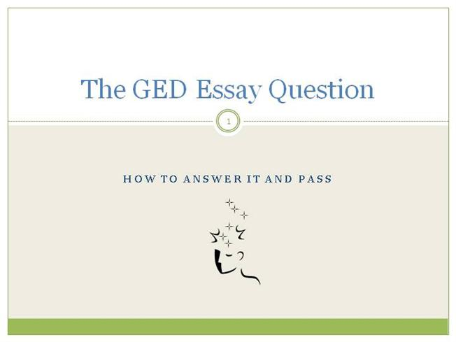 steps for writing a ged essay