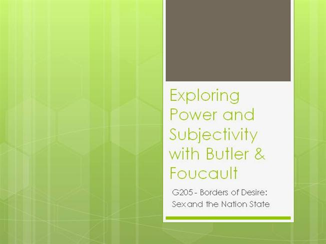 butler and foucault Vulnerability and resistance interview with judith butler by federica sossi and martina tazzioli question: in your reflection you have often referred to foucault.