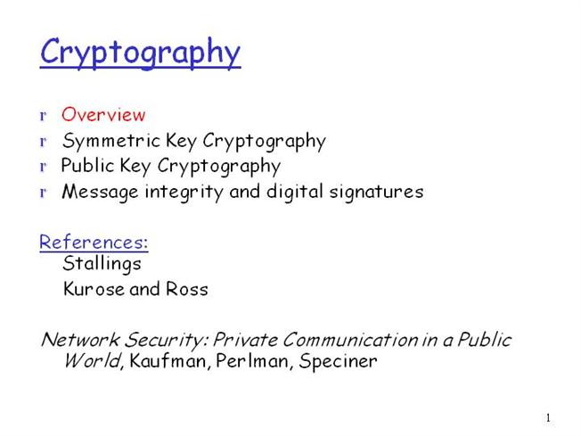 an overview of cryptography An overview of cryptography an overview of cryptography.