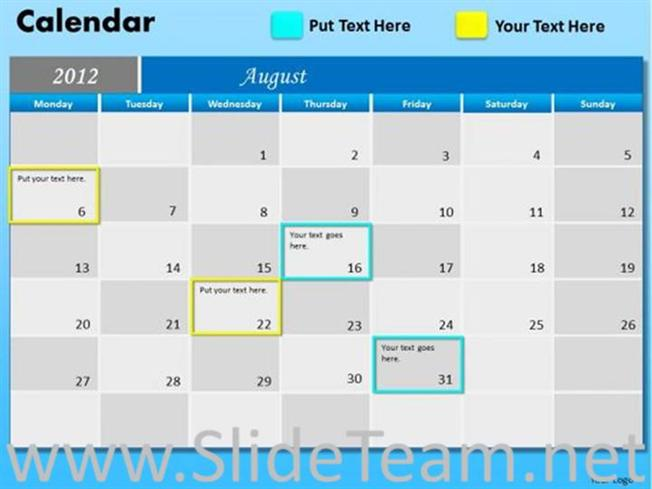 milestone calendar ppt template powerpoint diagram. Black Bedroom Furniture Sets. Home Design Ideas