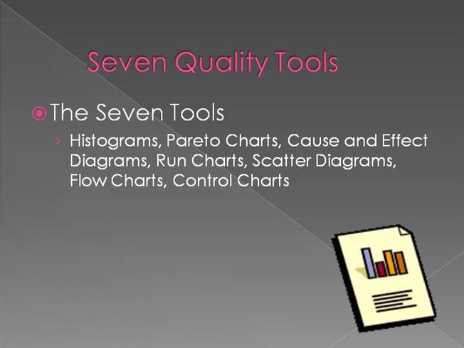 7 quality tools This course offers training on the seven quality control (qc) tools and each tool's common uses online pay-per-view video or lms-compatible scorm/aicc elearning courses available.