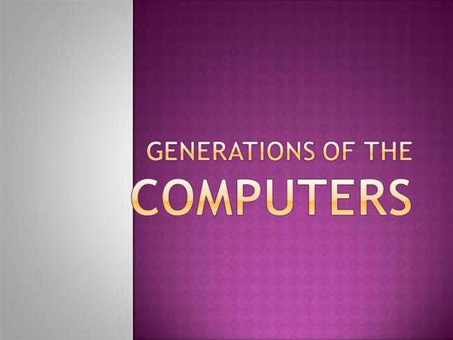 Present Generation Computers Generations of The Computers