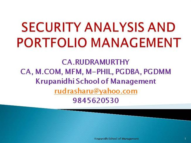 security analysis portfolio management fundamental Fundamentals of investment vi semester core course b com  chapter 3 approach to security analysis 29 chapter 4 portfolio analysis and financial derivatives 54  analysis and fundamental analysis school of distance education fundamentals of investment page 7 3 construct a portfolio.