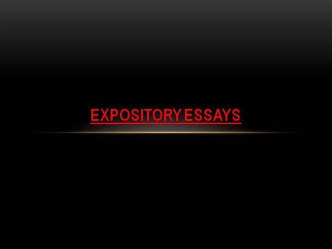 Do Expository Essays Have Thesis