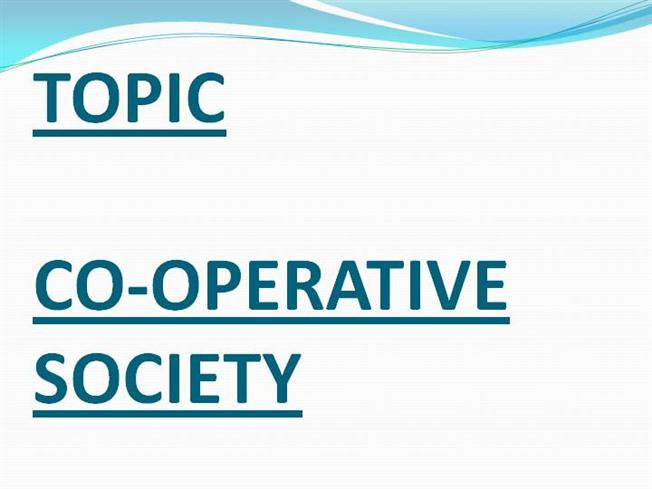 formation of co operative society