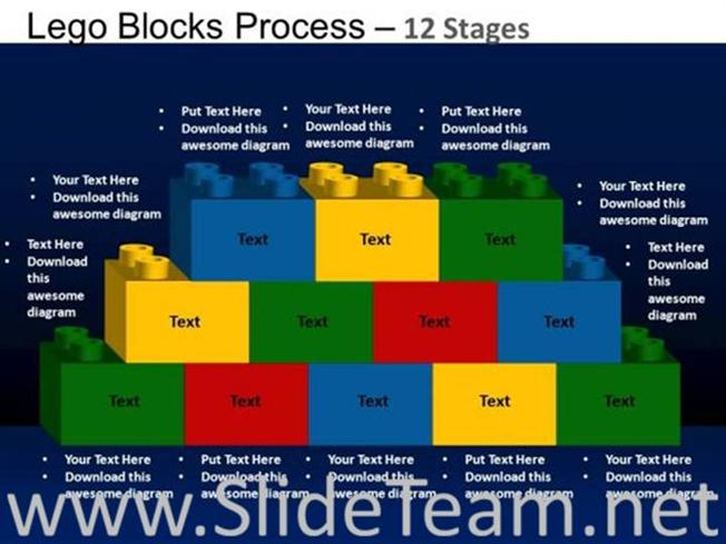 lego building blocks ppt slide powerpoint diagram. Black Bedroom Furniture Sets. Home Design Ideas