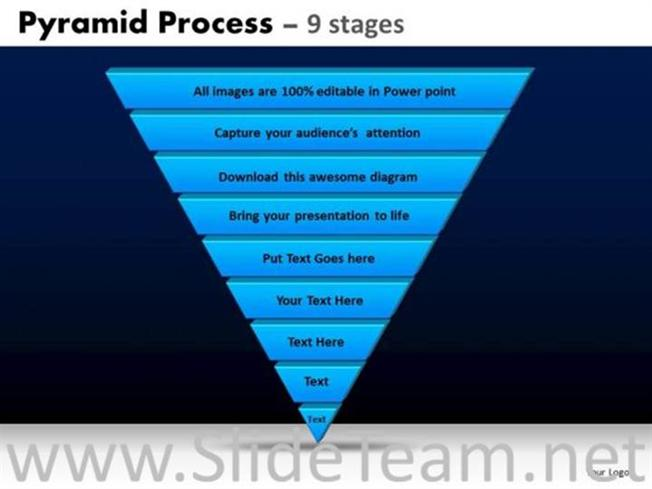 9 staged inverted pyramid for business