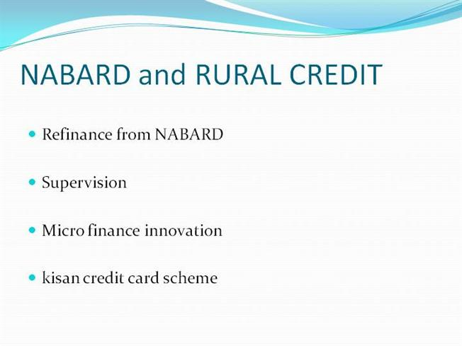 rural credit Recently, the indian congress asked a distinguished committee of experts to analyze and make policy recommendations about india's cooperative financial institutions (cfis), which included organizations such as credit unions and cooperative banks.
