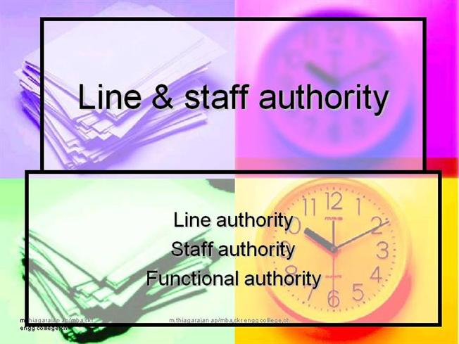 line and stuff authority Functional authority – definition: functional authority is permission to issue directions to people not under line supervision such directions deal with specified activities or certain aspects of a company.