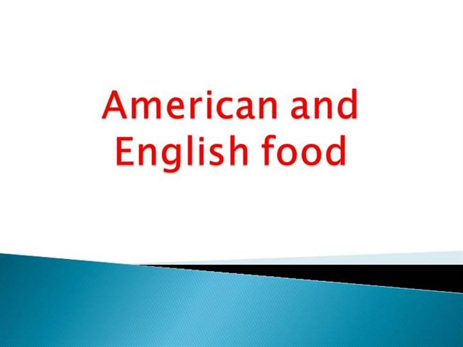 American and english food authorstream for American cuisine presentation