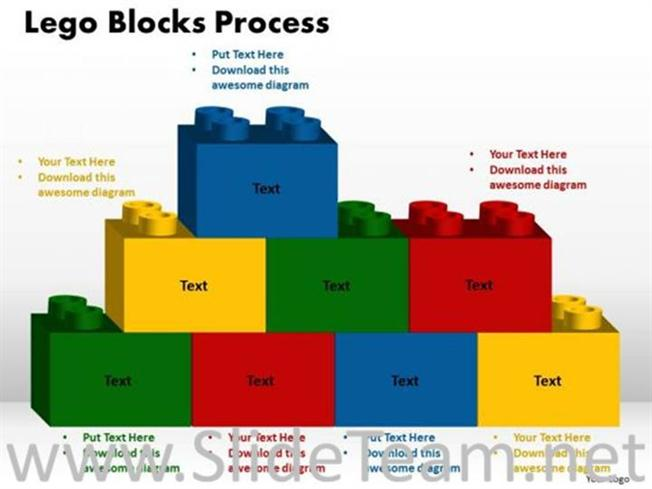 text lego blocks ppt theme powerpoint diagram. Black Bedroom Furniture Sets. Home Design Ideas