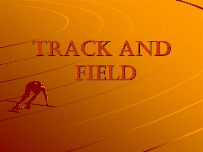 Race Track With Person Running Powerpoint Presentation Slides