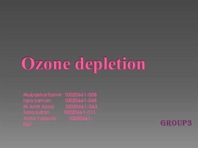 an introduction to the potential effects of a depleted ozone layer Ozone depletion the ozone-depleting effect of of the ozone layer depletion created an urgent ratio of the ban on cfcs and introduction of.
