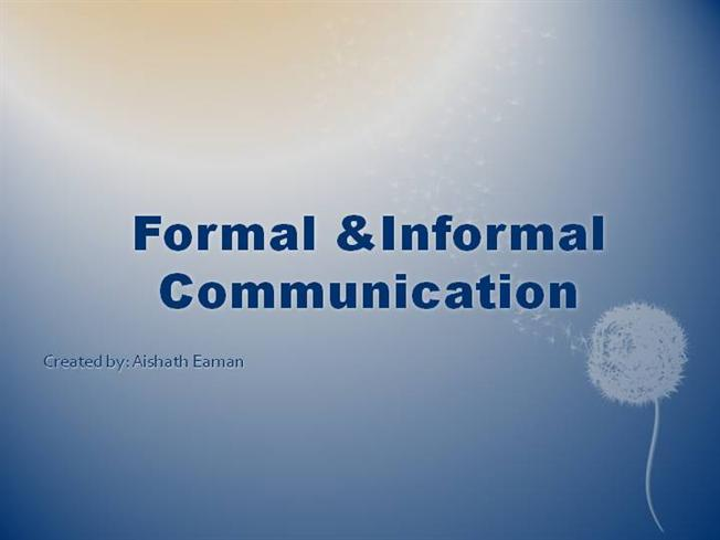 formal and informal in communication essay When writing your extended essay you should use language that is formal and academic in tone the chart below gives you some idea of the differences between informal and formal essays.