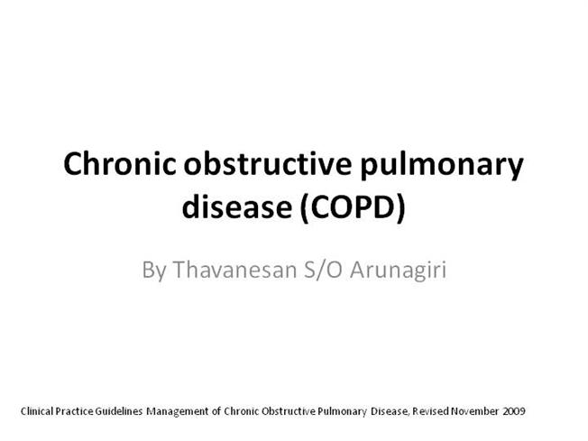 Chronic Obstructive Pulmonary Disease (COPD) Case study