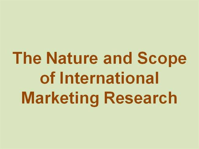 nature scope of marketing research essay The main scope of the journal is captured in  for detailed metrics about cancer research and the other aacr journals  aacr publications sales & marketing.