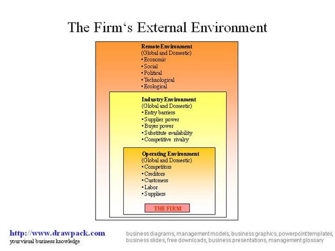 remote environment the industry environment and the operating environment External environmental factor in the remote, industry, and external operating environments part of dsw's external environment factor in the remote.