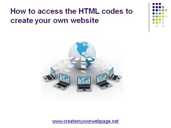 Get the html codes to create your own website authorstream Start my own website