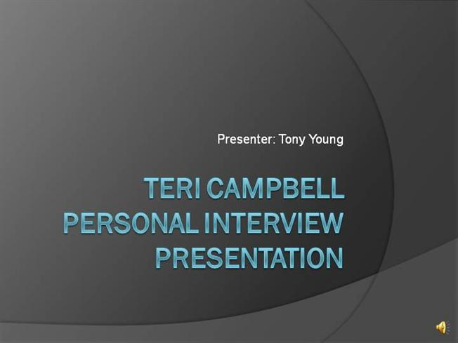 tony young personal interview