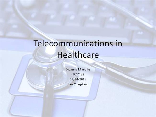 hcs 482 telecommunications presentation Hcs/533 week six system structures power point presentation how does your selected structure impact the delivery of health $1000 hcs 482 week 2 presentation on telecommunications in health care.