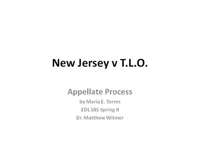 new jersey vs t l o Learn about case background of the landmark supreme court case new jersey  v tlo dealing with the authority of school officials to search students'.