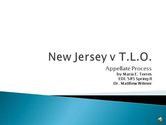 new jersey v t l o New jersey v tlo, (1984) no 83-712 argued: decided: july 5, 1984 this case is restored to the calendar for reargument in addition to the question presented by the petition for writ of certiorari and previously briefed and argued, the parties are requested to brief and argue the following question.