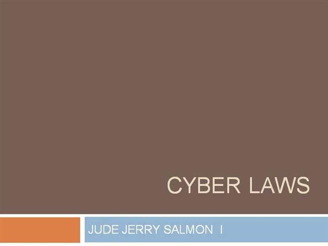 conclusion on cyber law Cybercrime, international harmonization, cyber crime, legal system, internet   legal systems of members of this gigantic organization hinder the conclusion of a .